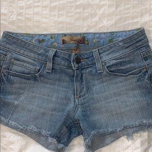PAIGE light wash denim shorts